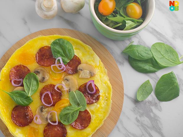 """Pepperoni """"Pizza"""" Omelette Recipe"""