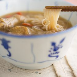Sesame Wine Chicken Mee Sua Recipe