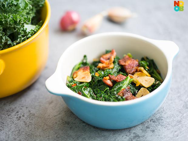 Stir-fried Kale with Bacon Recipe