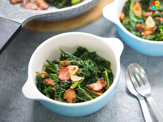 Kale Bacon Stir-fry Recipe