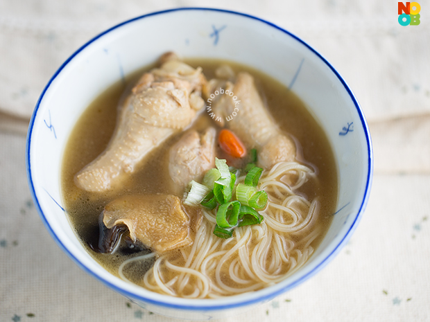 Sesame Wine Chicken Mee Sua Recipe