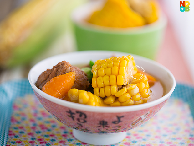 Sweet Corn Pork Ribs Soup Recipe