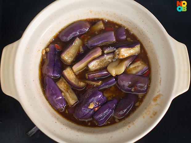 Claypot Eggplant with Basil Recipe