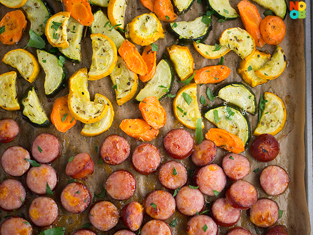 Sheet Pan Sausage & Veggies Recipe