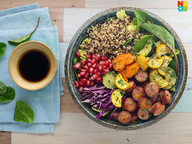 Sausage & Veggies Grain Bowl