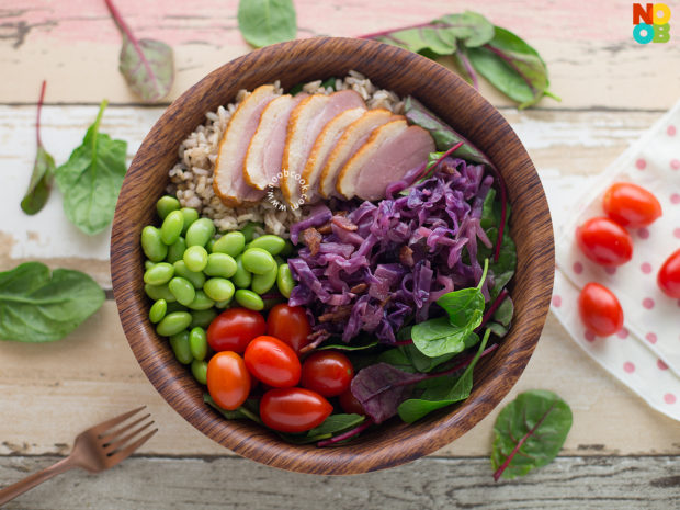 Braised Red Cabbage Grain Bowl