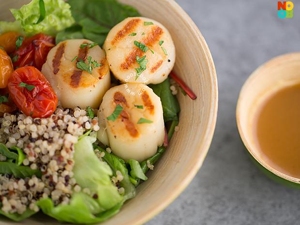 Scallops Grain Bowl Recipe