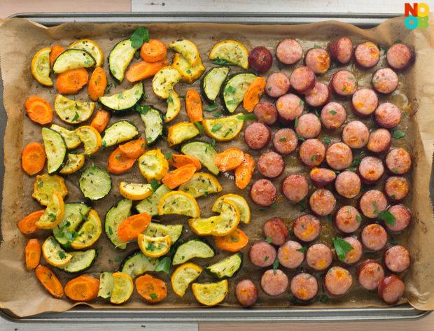 Sheet Pan Sausage & Veggies Recipe