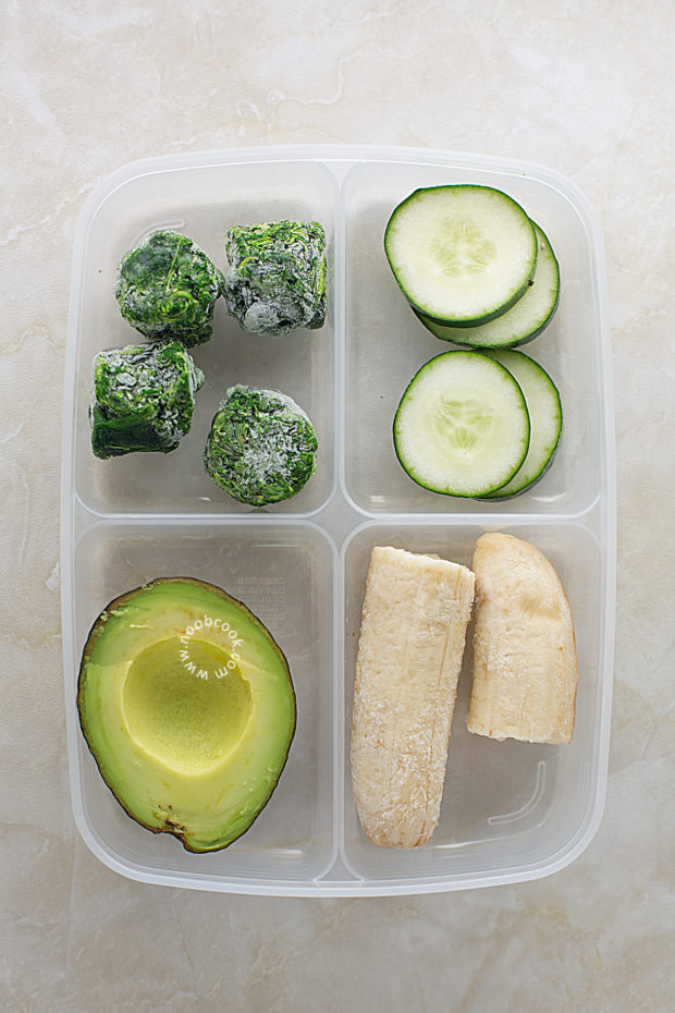 Avocado Spinach Smoothie Ingredients