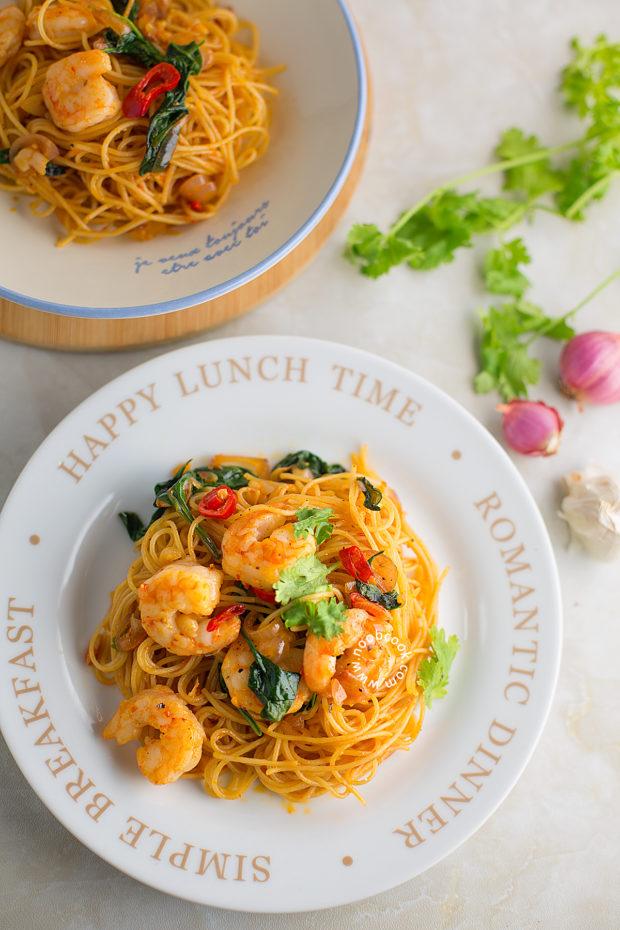 Sambal Pasta with Prawns Recipe