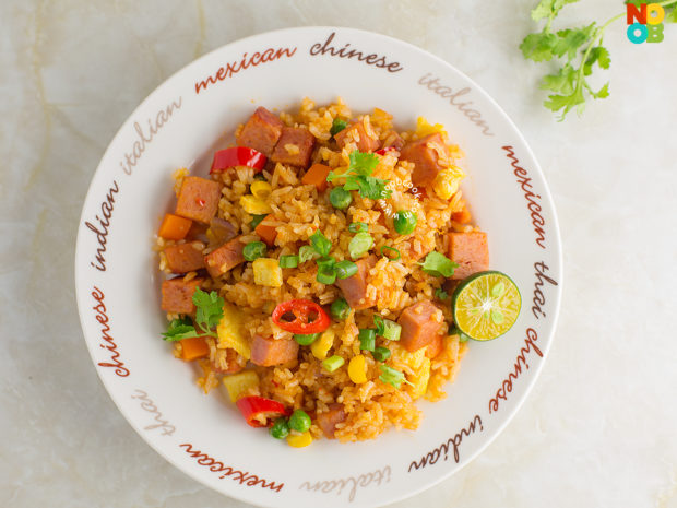 Sambal Spam Fried Rice Recipe