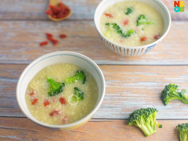 Broccoli Millet Porridge