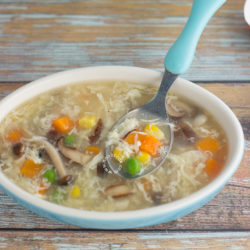 Mushroom Veggies Egg Drop Soup Recipe