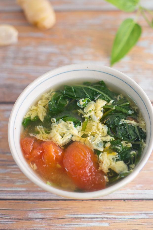 Spinach Egg Drop Soup Recipe