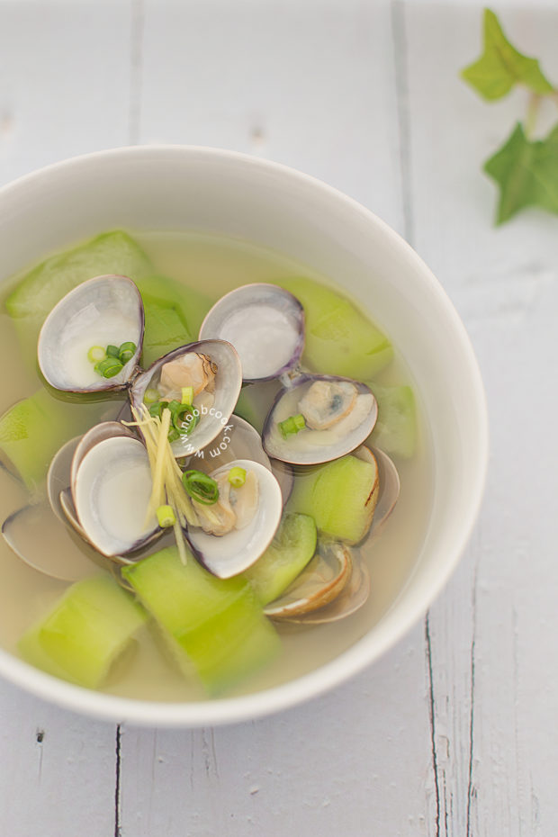 Loofah Clam Soup Recipe