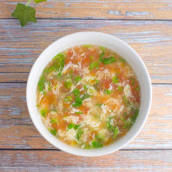 Tomato Egg Drop Soup Recipe