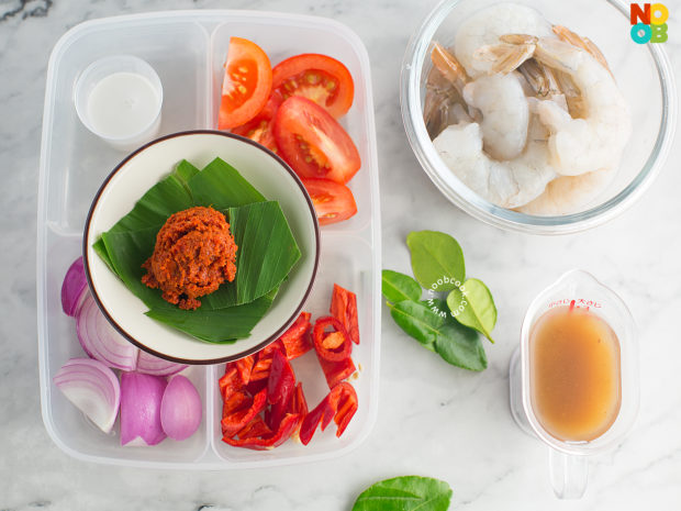 Sambal Prawns (Sambal Udang) Ingredients