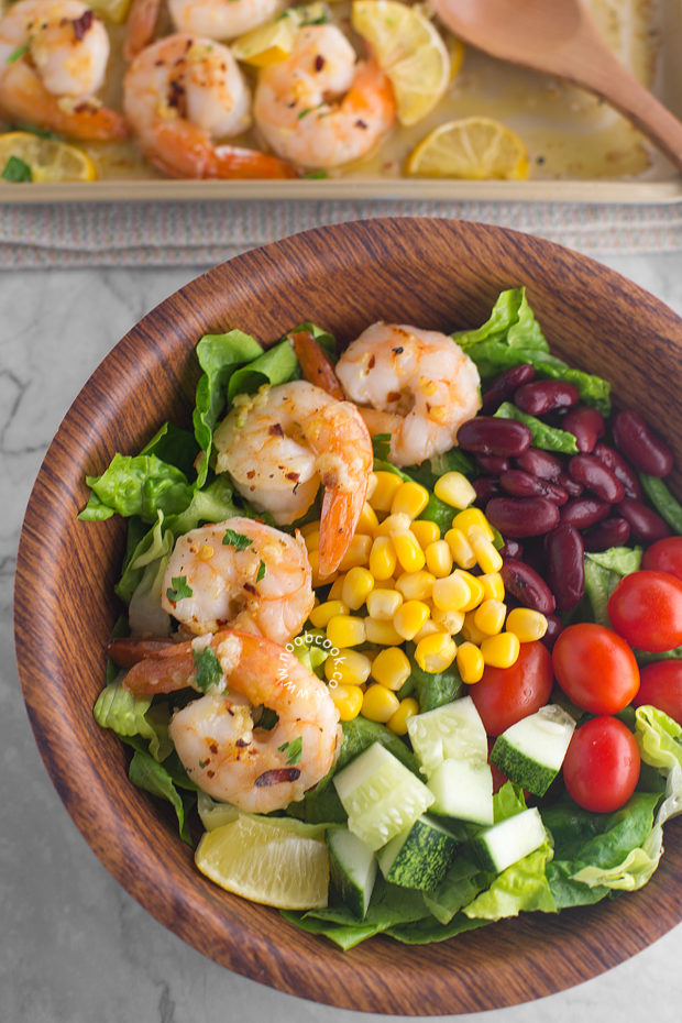 Sheet Pan Shrimp Salad