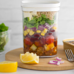 Smoked Oysters Quinoa Salad Jar Recipe