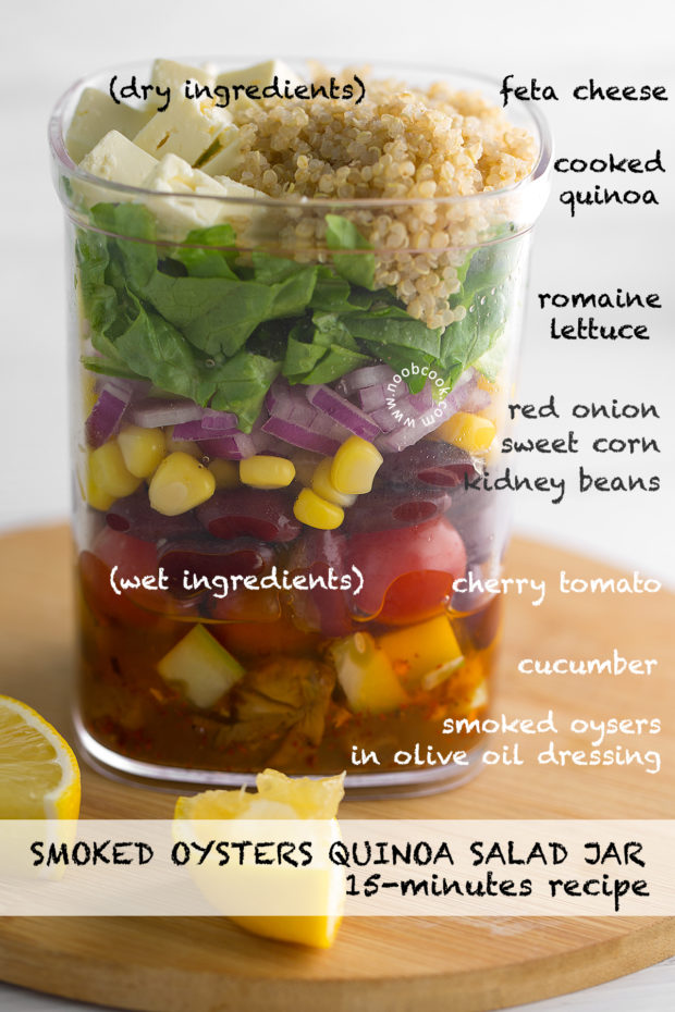 Smoked Oysters Quinoa Salad Jar Recipe