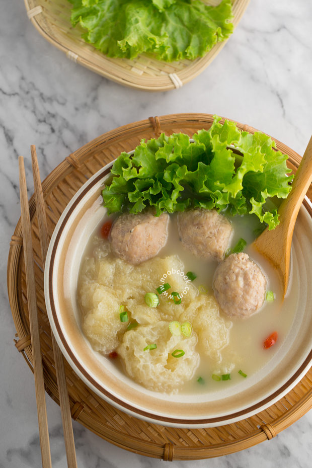 Fish Maw & Pork Ball Collagen Soup Recipe