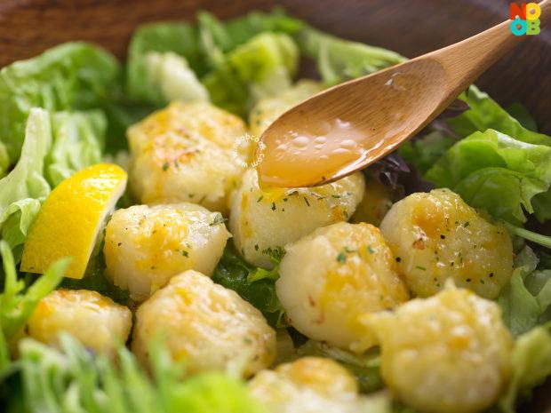 Orange Parmesan Scallops Salad Recipe
