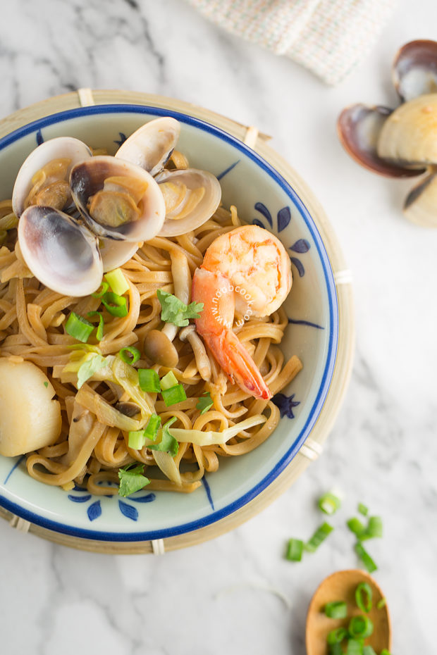 Seafood Ee-Fu Noodles Recipe