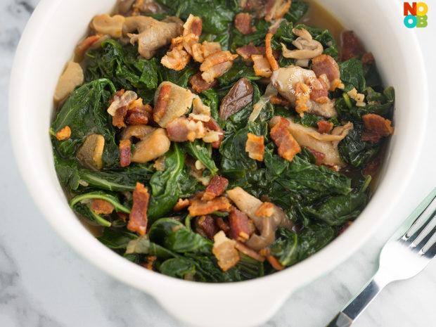 Kale, Bacon & Mushroom Recipe
