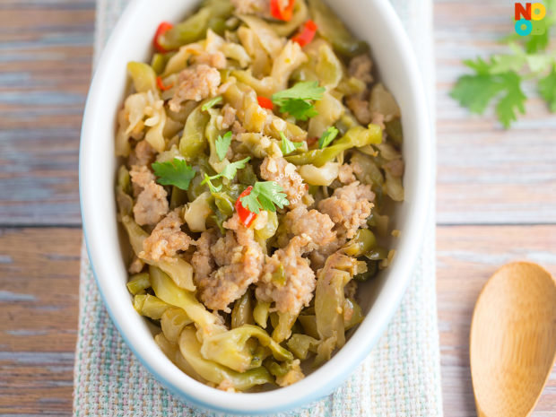 Sichuan Vegetable with Mince Pork Recipe