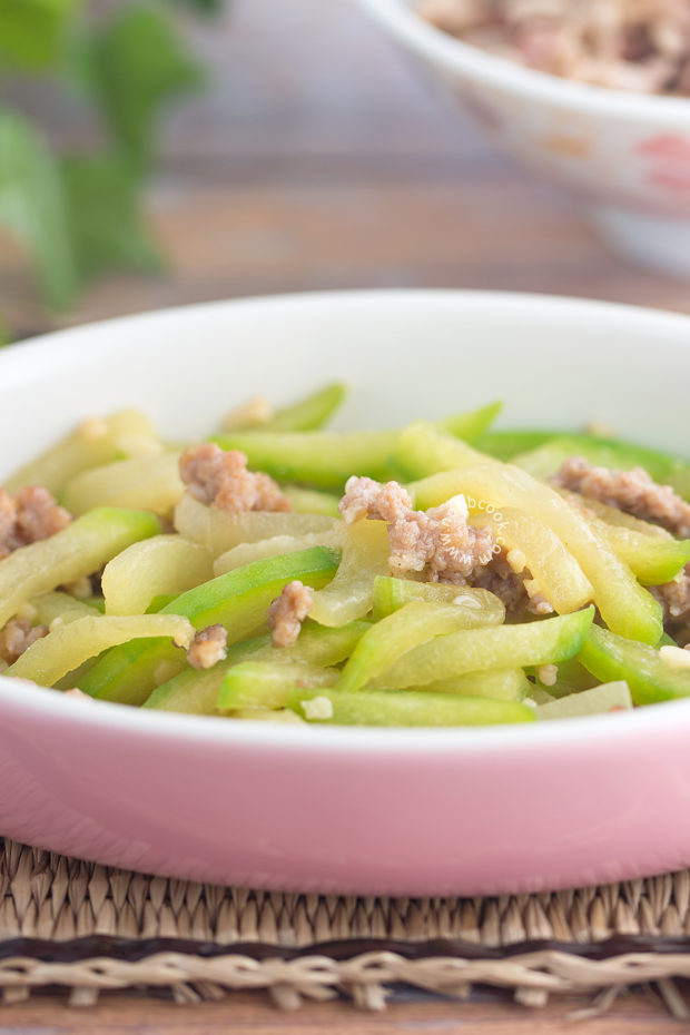 Hairy Gourd with Mince Pork Recipe