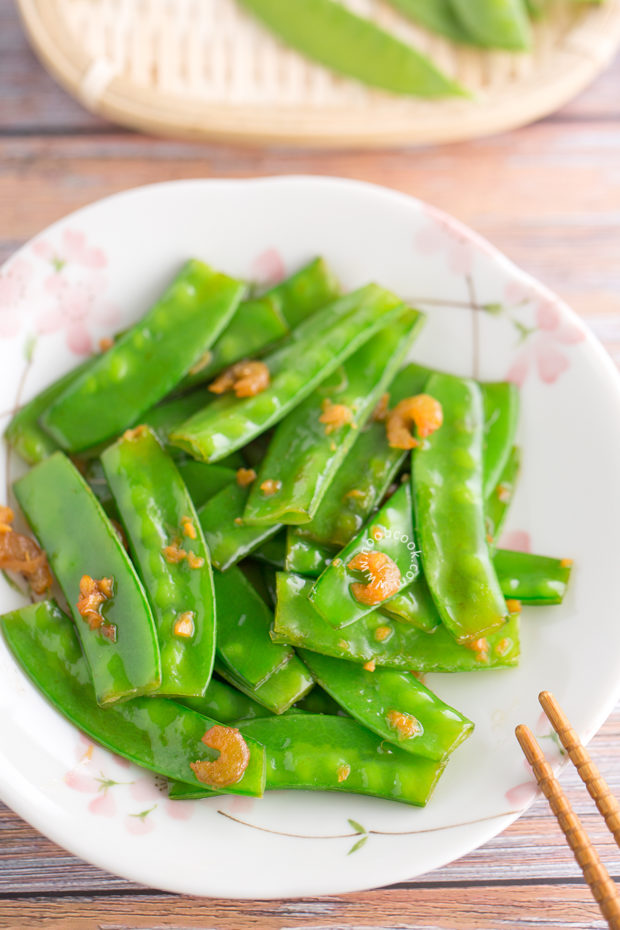 Stir-fried Snow Peas with Dried Shrimps Recipe