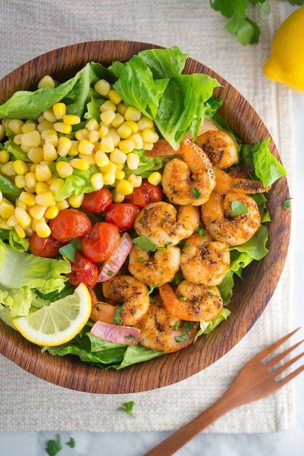 Sheet Pan Cajun Shrimp Salad Recipe