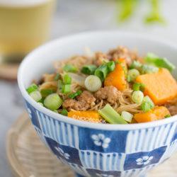 Pumpkin & Pork Rice Vermicelli Recipe