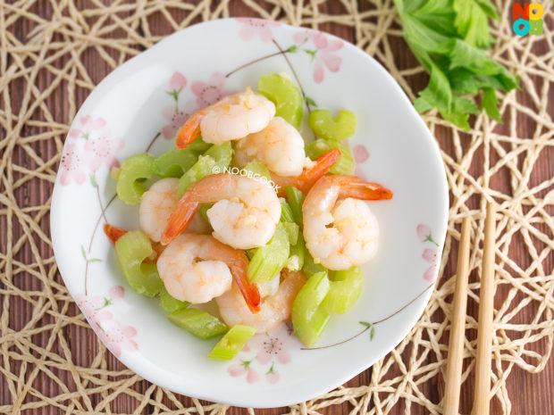 Shrimp & Celery Stir-fry Recipe