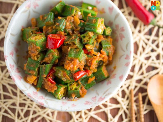 Sambal Okra with Dried Shrimps Recipe