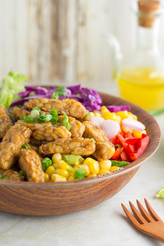 Tempeh Salad with Orange Vinaigrette Recipe