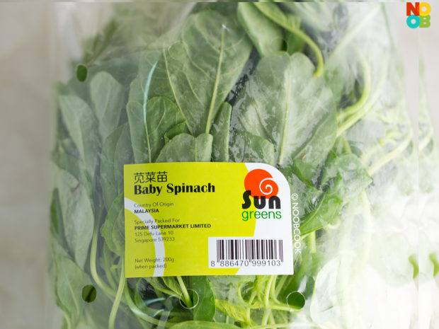 Local Baby Spinach (Sharp Spinach Shoots)