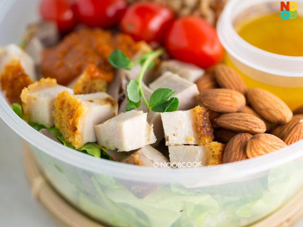 Roast Pork Salad Packed Lunch Recipe (Deli Roast Pork)