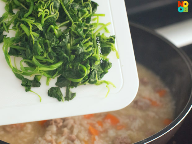 Spinach Pork Porridge Recipe