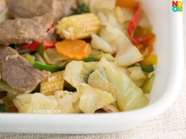 Stir-fry Beef & Cabbage Platter Recipe