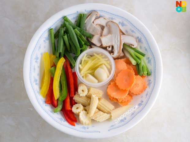 Stir-fry Beef & Cabbage Platter Recipe (Ingredients)