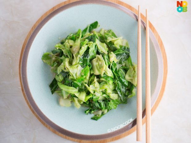 Stir fry Cabbage Outer Leaves Recipe