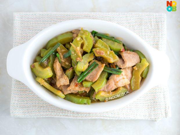 Stir-fry Bittergourd & Pork Recipe