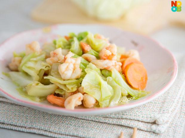 Stir-fry Cabbage & Shrimp Recipe