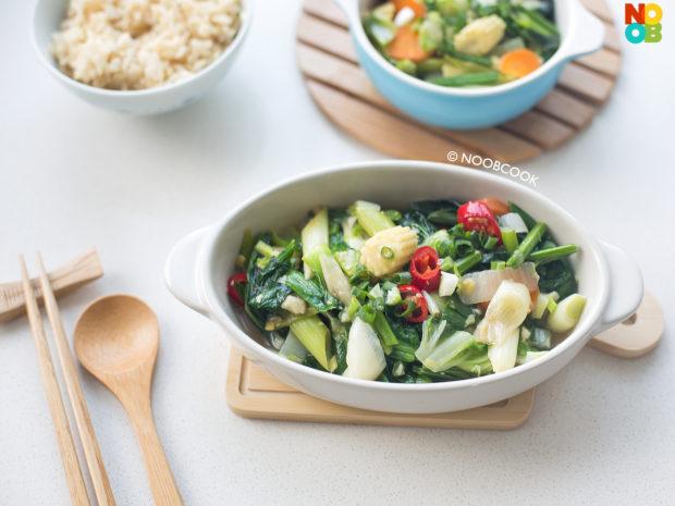 Stir-fry 7 Types Vegetables Recipe