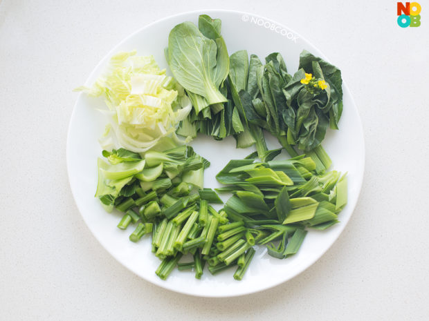 Stir-fry 7 Types Vegetables Ingredients