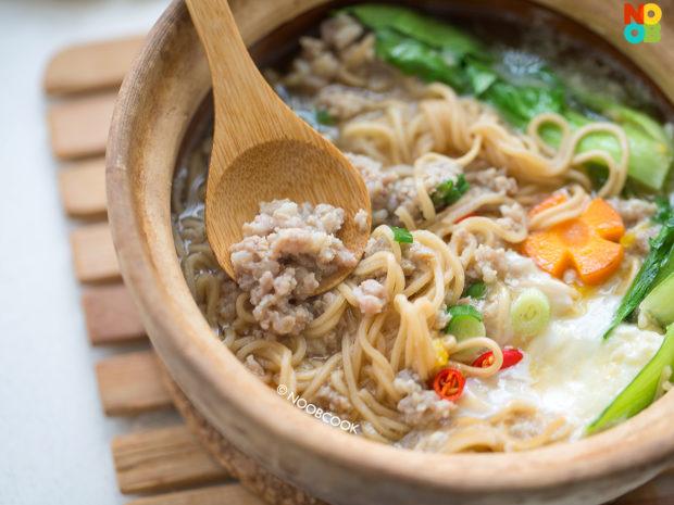 Claypot Yee Mee with Mince Pork Recipe