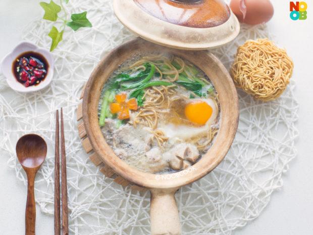 Claypot Yee Mee with Pork Recipe
