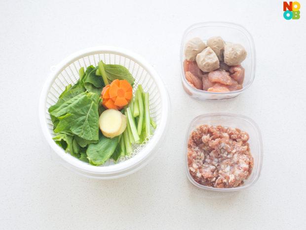 Claypot Yee Mee with Pork Recipe (Ingredients)