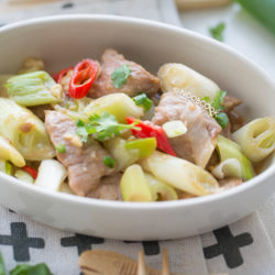 Stir-fry Pork with Negi (Japanese Scallion) Recipe